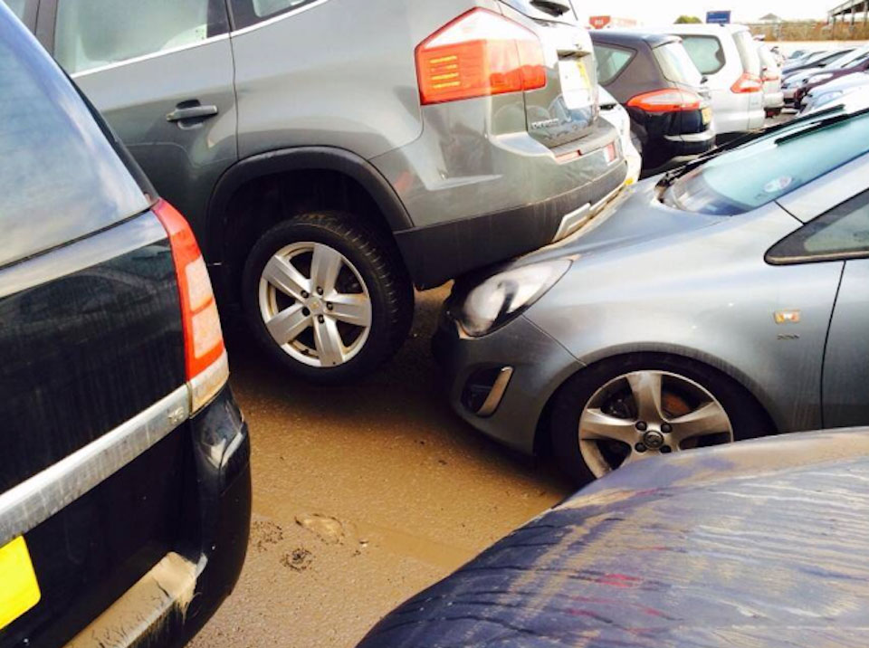 Motor Depot Flood Damage